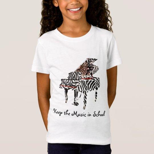 Zebra Grand Piano ~ Tshirt