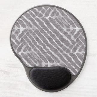 Zebra Gray and White Stripe Gel Mouse Mat