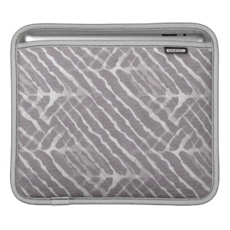 Zebra Gray and White Stripe Sleeve For iPads