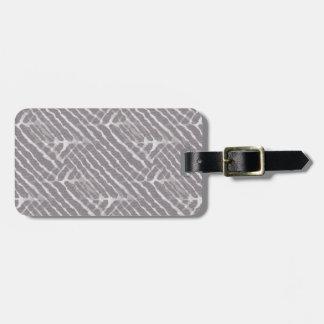 Zebra Gray and White Stripe Luggage Tag