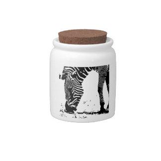 Zebra Grazing Candy Jars