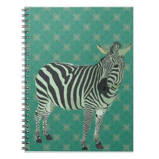 Zebra Green Notebook