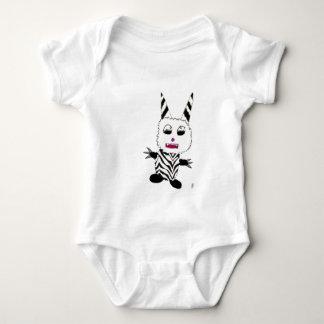 Zebra gremlin baby bodysuit