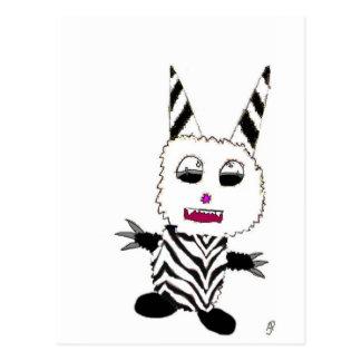 Zebra gremlin postcard