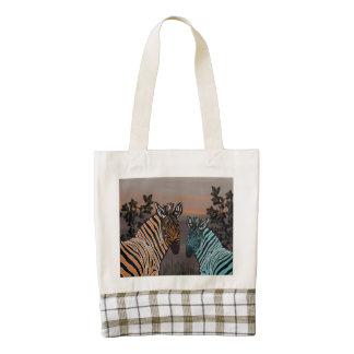 Zebra Habitat Zazzle HEART Tote Bag