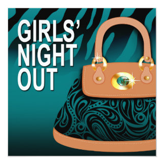 Zebra Handbag Paisley Purse Girls Night Out Card