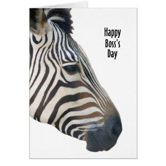 Zebra - Happy Boss's Day Card