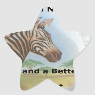 Zebra having & nice day and a better night. star sticker