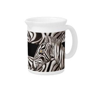 Zebra Head 2 Beverage Pitchers
