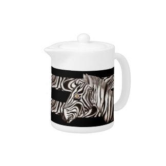 Zebra Head 2 Teapot