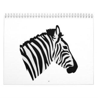Zebra head calendar