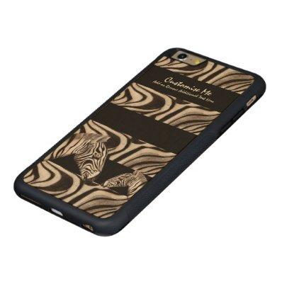 Zebra Head Carved® Maple iPhone 6 Plus Bumper Case