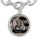 Zebra Head Charm Bracelet