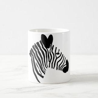 Zebra head close-up portrait illustration mug