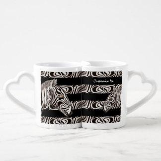 Zebra Head Coffee Mug Set