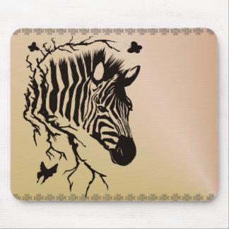 Zebra Head Design Mousepad