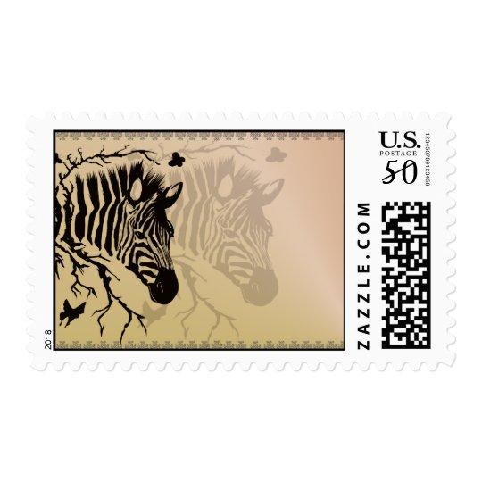 Zebra Head Design Postage
