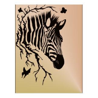 Zebra Head Design Postcard
