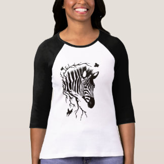 Zebra Head Design T-Shirt