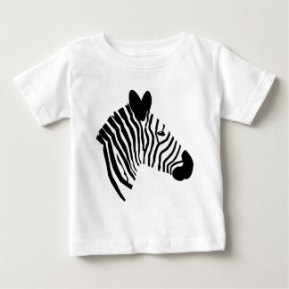 Zebra head illustration black white kids t-shirt