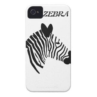 Zebra head illustration iphone 4 case mate i/d