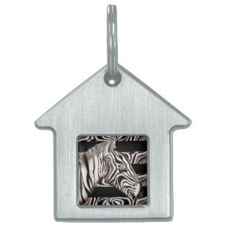 Zebra Head Pet Name Tag
