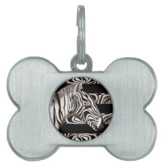 Zebra Head Pet Tag