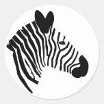 Zebra head portrait close-up illustration stickers