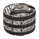 Zebra Head Round Pouf