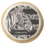 Zebra Head Round Premium Shortbread Cookie