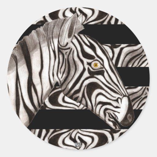 Zebra Head Stickers