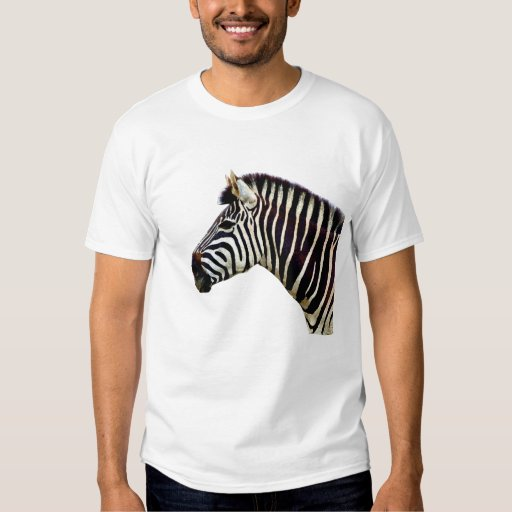 Zebra Head to Shoulder Tee Shirts
