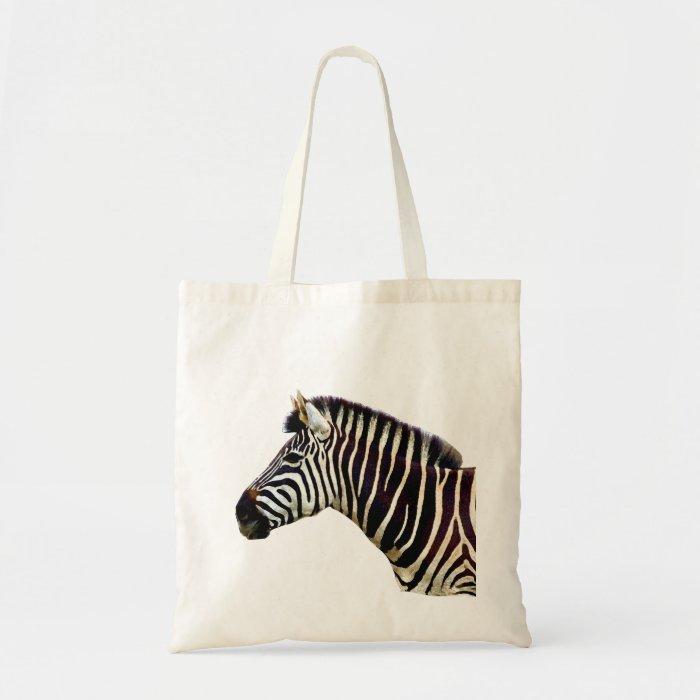 Zebra Head to Shoulder Tote Bag