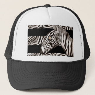 Zebra Head Trucker Hat