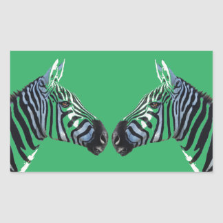 Zebra Heads Sticker