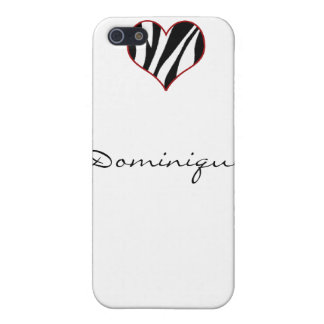 Zebra Heart Case For iPhone 5