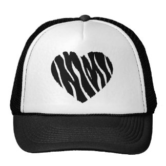 Zebra Heart Mesh Hats
