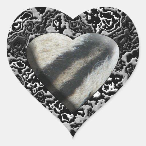 Zebra Heart Heart Sticker