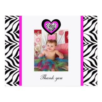 Zebra Heart: Picture: Thank You Postcard