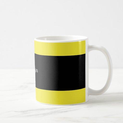 "Zebra hearts ""I love you"" mug"
