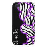 Zebra hearts  iPhone 4/4S covers