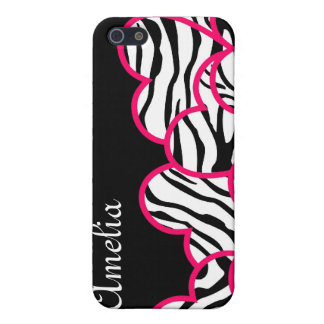 Zebra hearts  cover for iPhone 5
