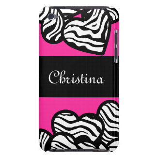 Zebra hearts iPod Touch Case-Mate