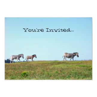 Zebra Herd Invitations