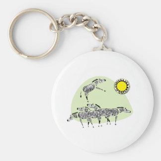 Zebra Herd Keychain