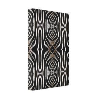 Zebra Hide Design Wrapped Canvas Print