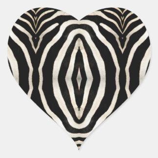 Zebra Hide Photograph Heart Sticker