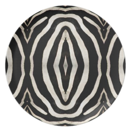 Zebra Hide Photograph Melamine Plate