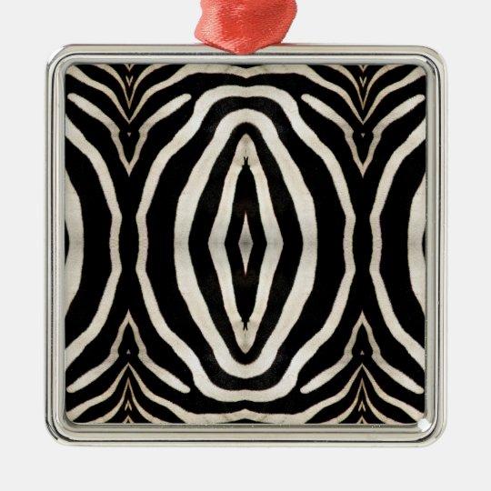 Zebra Hide Photograph Metal Ornament