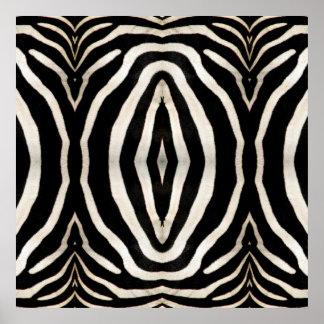 Zebra Hide Photograph Poster